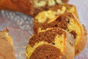 Moelleux marbré chocolat orange