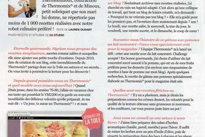 """MISE A L'HONNEUR DANS LE MAGAZINE  """" THERMOMIX et MOI """""""