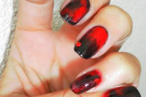Nail art Dark( aquarelle) une découverte... (tuto image)
