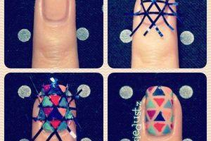 Nail art Striping tape (rouleau adhésif pour ongle), tutoriel