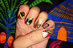 nail art pagne africain