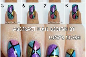 """tutoriel nail art asymétrique, """"design"""", des couleurs pour vos ongles"""