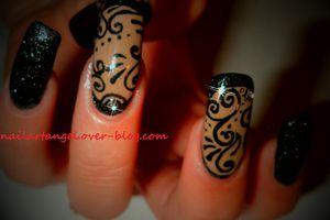 nail art arabesque, élégance et simplicité, MISS EUROPE