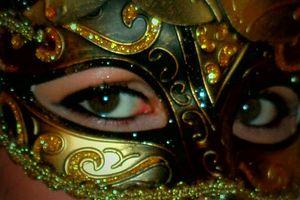 Maquillage, carnaval de venise, masque