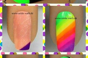 Nail art arc-en-ciel, nail art fleur, tutoriel image #nailart nail art facile