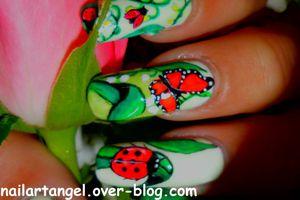 #nailart, #nail art muguet, #nailart #1ermai, #nailartangel