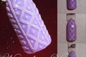 sweater nail art, nail art effet pull, 2 tutoriels image, nail art facile, tutoriel pas à pas
