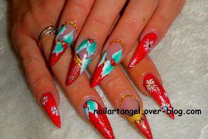 Nail art surprise de noel, nail art de noel, nail art tutoriel vidéo, nail art pas à pas, joyeux noel