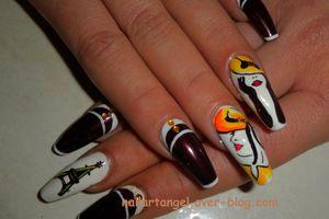 """Nail art facile, nail art élégant, nail art """"la parisienne"""", nail art pas à pas"""