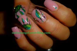 Nail art attrape rêve, nail art facile, nail art ongles courts, nailartangel
