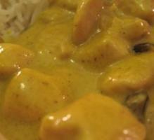 Poulet à la creme curry