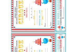 Invitations d'anniversaire: Cirque