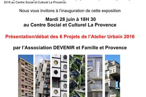 Invitation : expo des 6 Projets de l'Atelier Urbain 2016