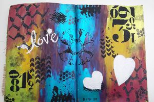 "Art journal Page ""Love"""