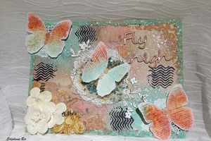 Challenge Lindy's Stamp Gang - Toile Papillon- Butterfly canvas