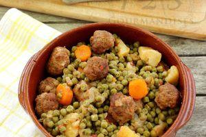 Tajine de boulettes et petits-pois carottes -Cookeo-
