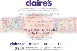 Rainbow loom Party + Hair Bar - Candy Bar et autres surprises - aujourd'hui mercredi Claire'S vous invite