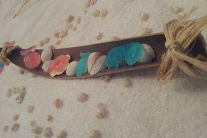 """Mandalas de petits savons sur le thème de la mer """"Défi #3"""""""