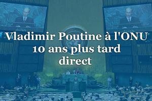 Ce qu'a proposé Vladimir Poutine à la tribune de l'ONU.
