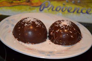 Dôme de chocolat guimauve ( chamallow)