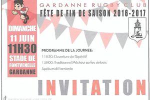 FETE DE FIN DE SAISON 2016-2017 DU GARDANNE RUGBY CLUB !!!