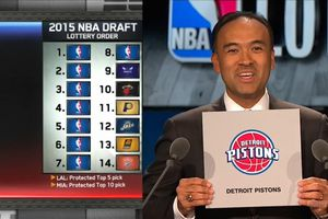 With 8th pick 2015 NBA DRAFT, the Detroit Pistons select...
