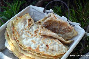 Gozleme : Crêpe turque farcie à la viande hachée