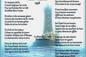 Le PHARE poème Didier Venturini, 1998 - Le phare de la Vieille est un phare maritime du Finistère(France)