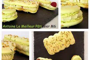 Déclinaison de macarons Pistache-Framboise