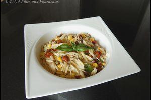 Salade de risetti au basilic