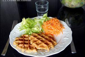 Gaufres Poulet - carotte - curry
