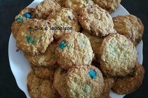 Petits goûters maison - cookies au mm's chocolat