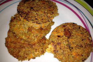 Galette de quinoa aux carottes et au fromage