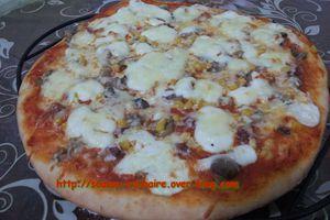 Pizza à la sauce béchamel