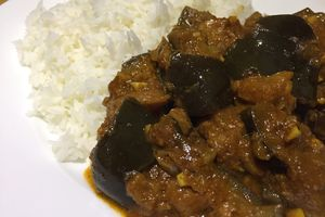 Curry indien d'aubergine