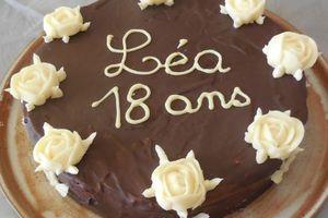 Trianon relooké, premier gâteau fait pour l'anniversaire de Léa