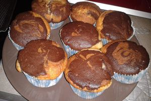 Gâteau marbré vanille/chocolat