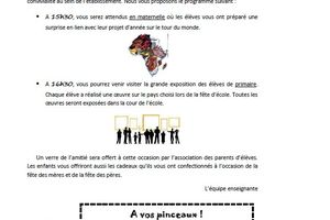 Fête des parents 2014-2015