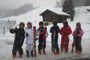 Journée sur les pistes de ski