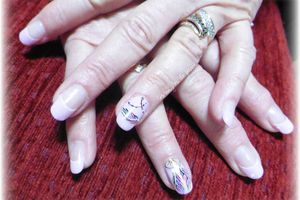 nailart attrape-rêve sur french rose