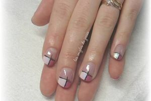 French effet ongles longs sur ongles courts