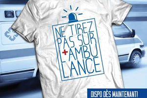 T-shirt France: Ne tirez pas sur l'Ambulance