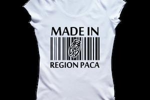 T-shirt: France - Provence-Alpes-Côte d'Azur - PACA - Made in PACA.