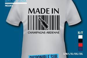 T-shirt: France - Champagne-Ardenne - Made in Champagne-Ardenne.