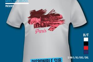 T-shirt - France - île de France - Paris 75 - Gargouille de Paris.