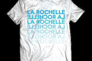T-shirt: France - Poitou-Charentes - La Rochelle - Dégradé.