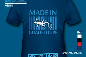 T-shirt: France - Guadeloupe - Made in Guadeloupe.