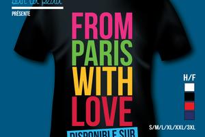 T-shirt - France - île de France - From Paris 75 with Love.