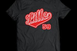 T-shirt France - Nord-Pas-de-Calais - Lille 59.