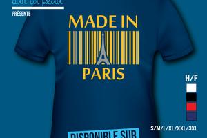T-shirt - France - île de France - Made in Paris 75 - Tour Eiffel